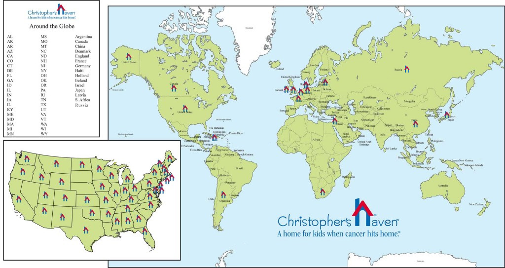 Christopher's Haven Global Reach Map