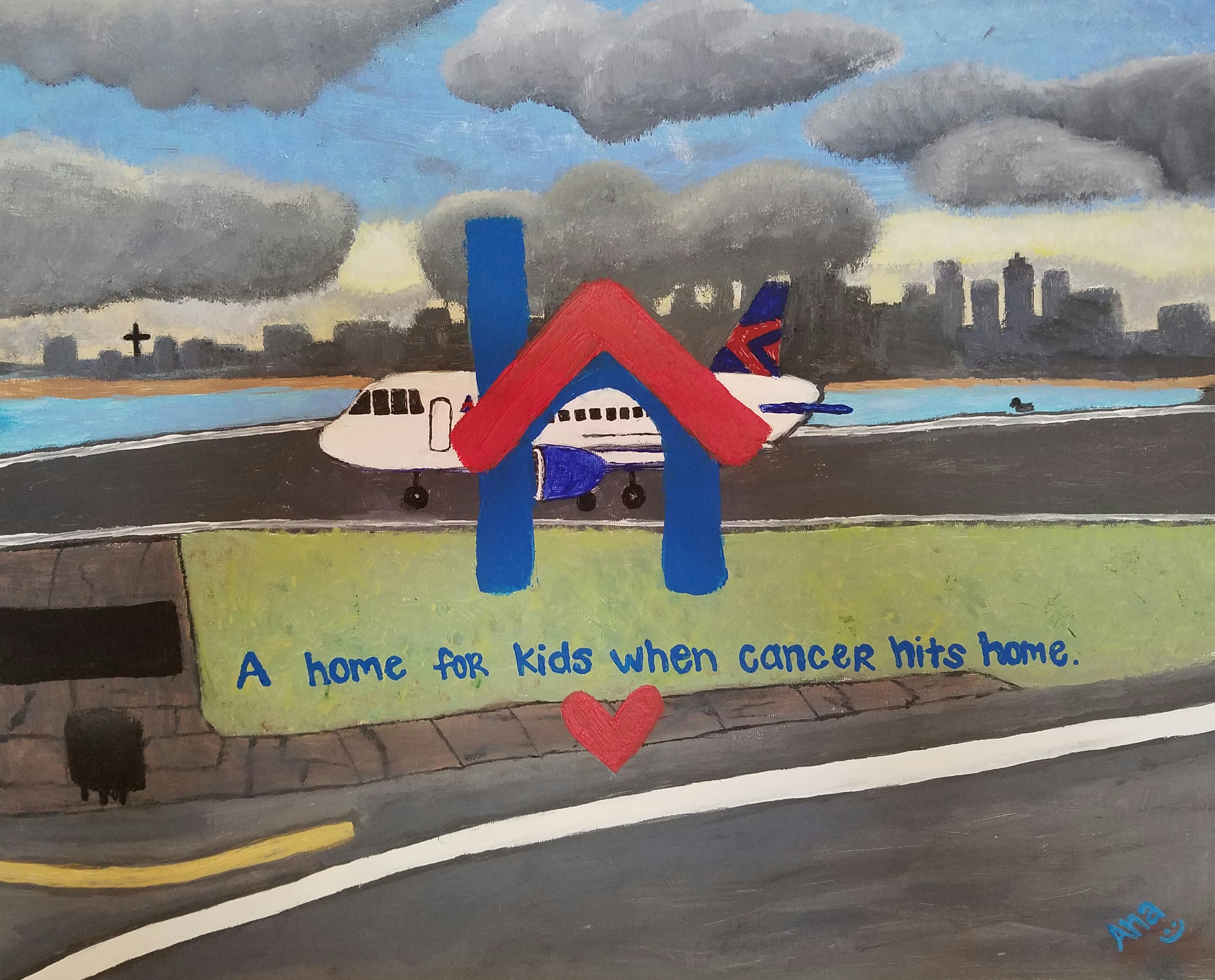 when cancer hits home painting